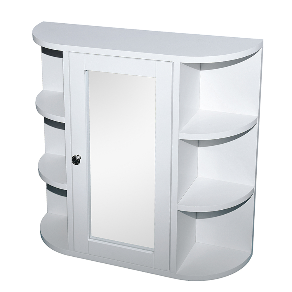 Bathroom Wall Mounted Cabinet Single Door Mirror Indoor 3 ...