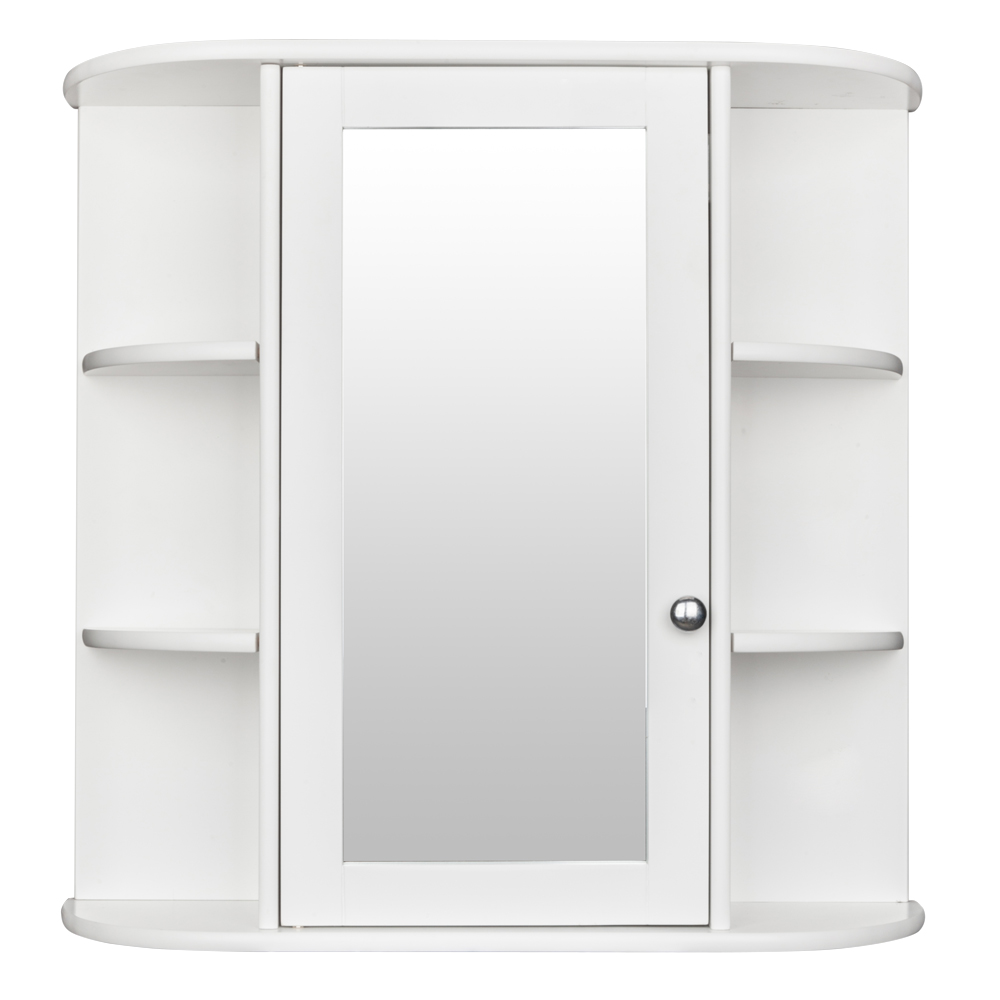 Bathroom Wall Mounted Cabinet Single Door Mirror Indoor 3 ...